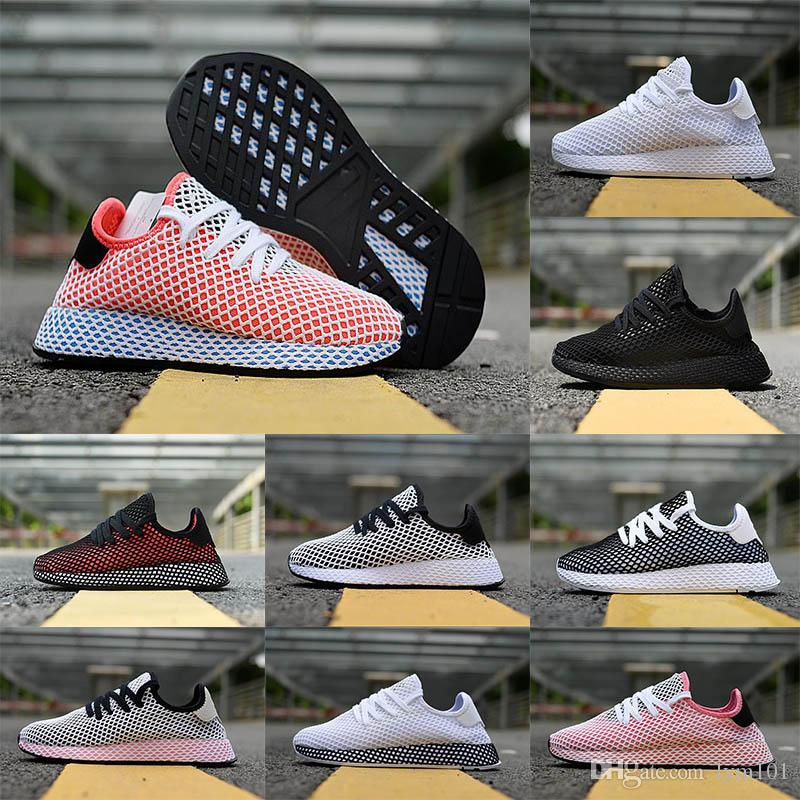 9ca22b36c8dc1 Hot High Quality 2018 Mesh Breathable Running Sneakers Originals Deerupt  Runner Men And Women Damping Rubber Athletic Shoes Youth Trail Running Shoes  ...