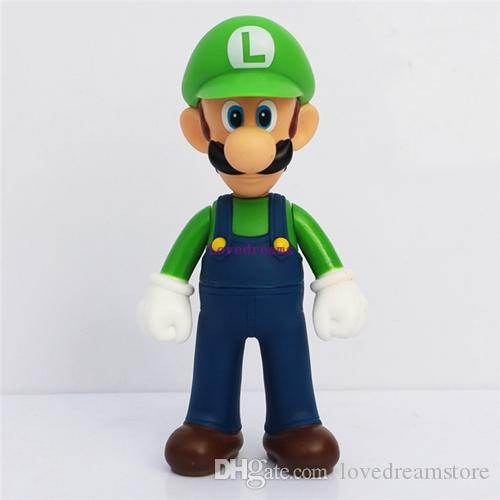 11-12cm Super Mario Bros Mario Yoshi Luigi PVC Action Figure Collection Dolls Toy for Children Toys Phone Accessories