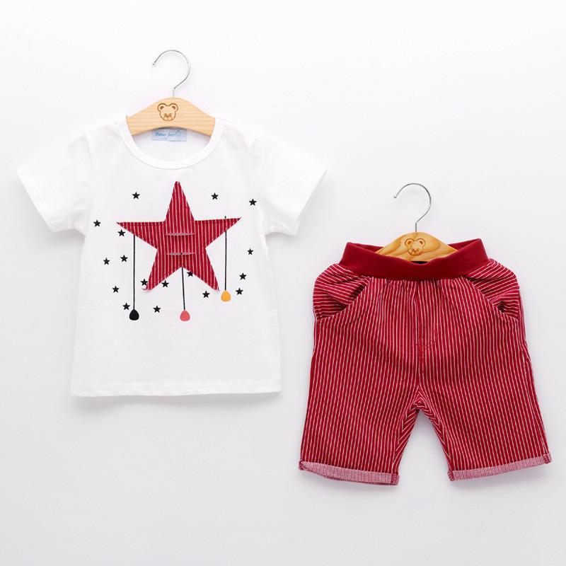 c223f3af526f Children Boys Clothing Sets New Summer Boy Short SLeeve T-shirt+ ...