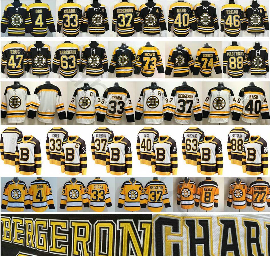 239e3d09651 Acquista 2019 Winter Classic Boston Bruins Hockey 4 Bobby Orr 33 Zdeno  Chara 37 Patrice Bergeron Krejci Brad Marchand Pastrnak 40 Tuukka Rask  Jersey A ...