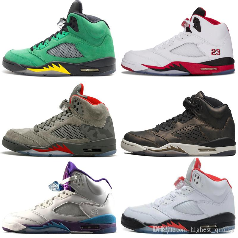 on sale ee135 d3d70 Cheap New 5 5s Wings International Flight Mens Basketball Shoes Red Blue  Suede Oregon Ducks Fluorescent Green Men Sports Sneakers Designer Kd  Basketball ...