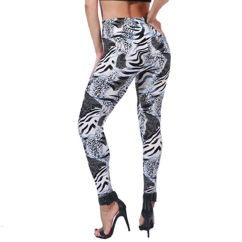 New Arrival Print Leggins Push Up Fitness Sexy Cartoon 3d Women High Quality Casual Leggings Zebra Green Leaf Floral Pants