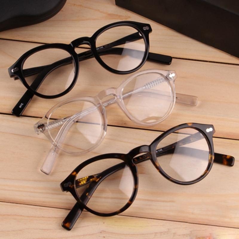 ed3d538032 Compre Vazrobe Acetato Gafas Hombres Mujeres Johnny Depp Marcos De Anteojos  Hombre Retro Ronda Tortuga Transparente Gafas Para Prescripción A $104.66  Del ...