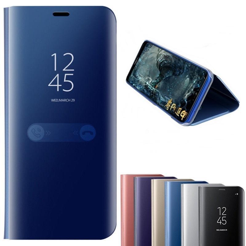 77c9ebb4ae6 Carcasa Personalizada Clear View Mirror Funda Inteligente Para Huawei P10  P20 P9 Mate9 Mate10 Flip Stand Volver Fundas Para Huawei Nova 2i 3E Honor  10 9 ...