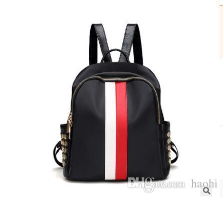 Women High Quality Brand Fashion Beach Bags Hit Color Stripes Zipper ... afb14d61b3e76