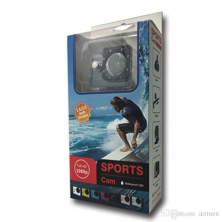 كاميرا رياضية مضادة للماء sJ4000 2 بوصة وشاشة LCD 1080P كامل HD كاميرات الفيديو الرياضة DV 30M عمل كاميرا دي إتش إل الحرة