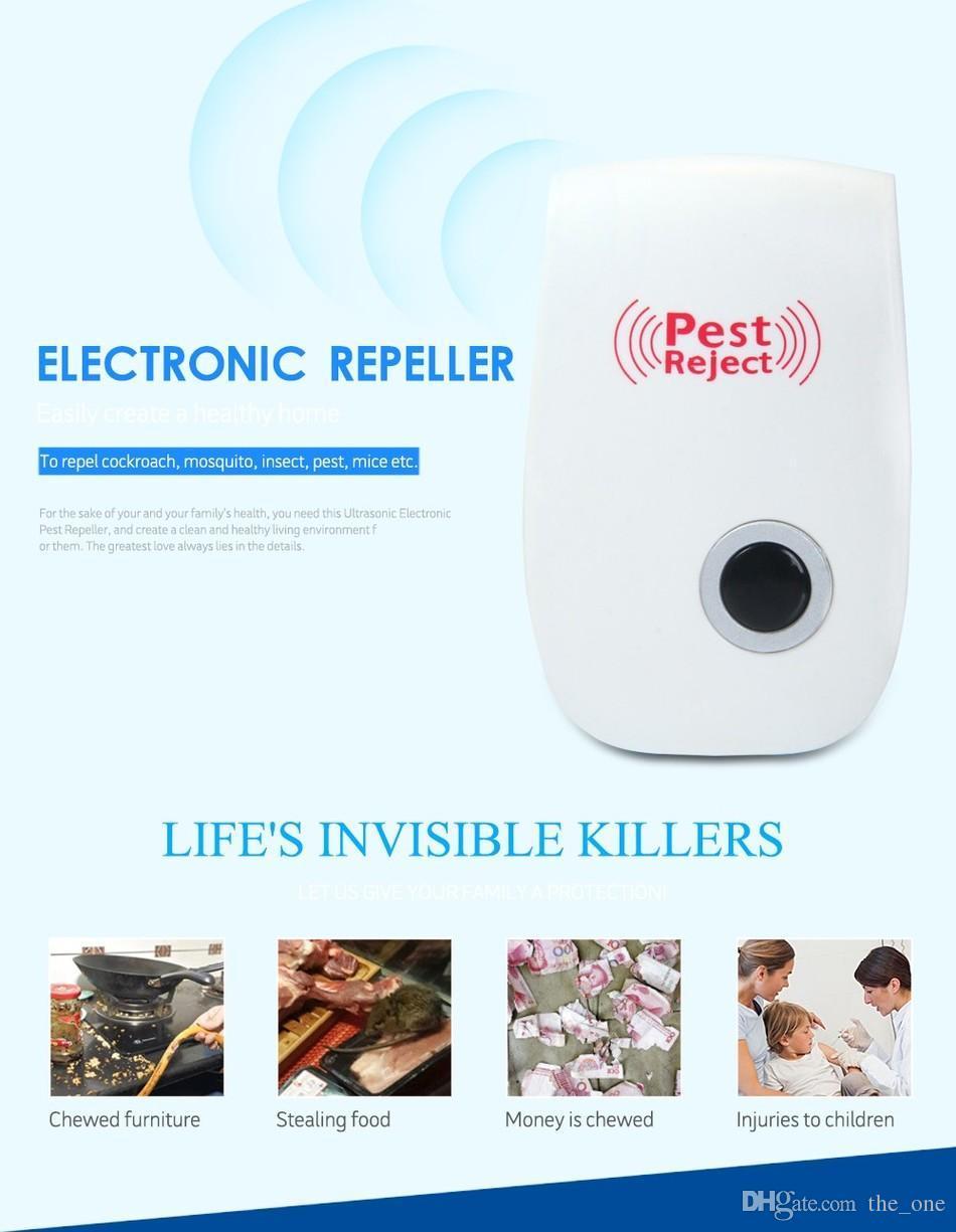 Verão Mosquito Assassino Eletrônico Multifuncional Ultrasonic Pest Repeller Rato Rato Repelente Anti Roedor Bug Rejeitar