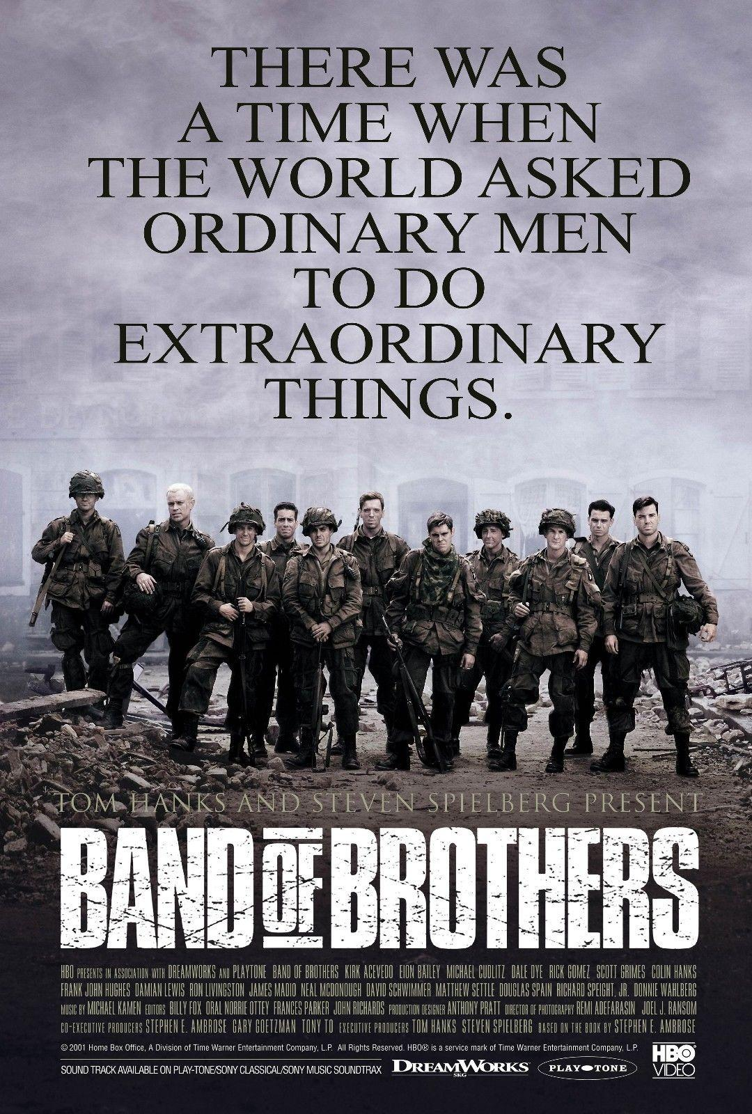 Band of brothers 2001 movie home decor art silk poster 24x36inch 24x43inch