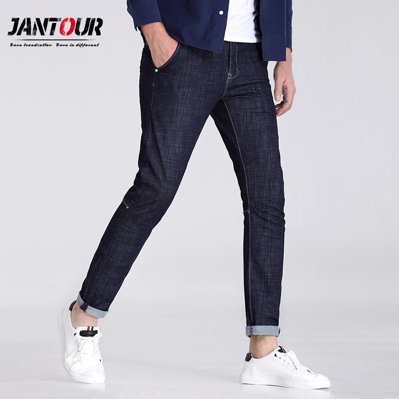 Compre 2017 De Alta Calidad Azul Negro Jeans Hombres De Algodón ...
