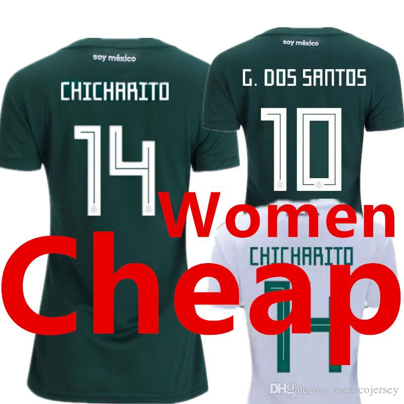 5cd35f4e4 Mexico Women Soccer Jersey Ladies World Cup 2018 2019 Female Away White  Girls Home Green Camisetas Futbol Mujer Camisa Mulher Football Shirt