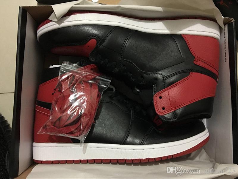 1c24250f41b Wholesale 1 OG High Bred Black Red White Men Basketball Shoes 1s ...