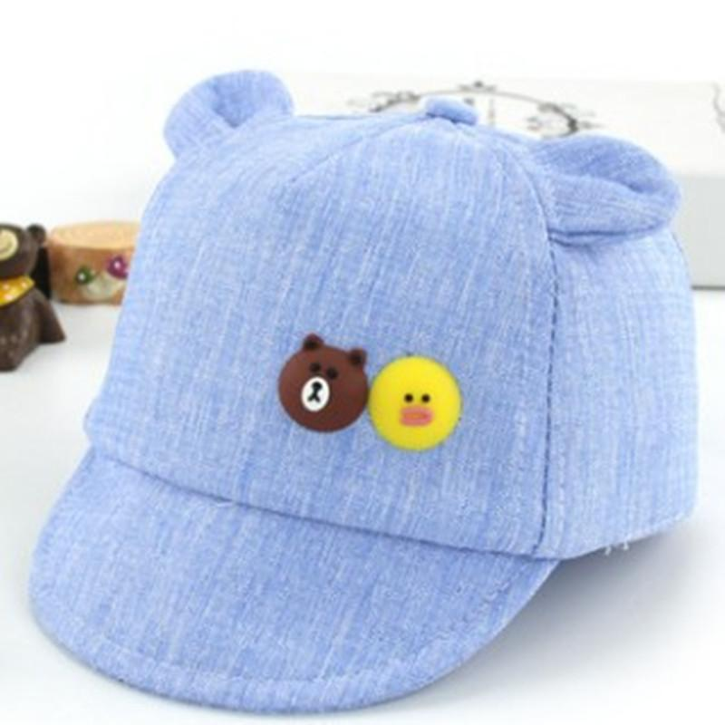 a519018b0a4 HATGUD TYLZT Cotton Cartoon Bear Small Duck Kids Baseball Hat Fashion Cute  Outdoor Boy Girls Peaked Cap Fit For 6 18 Months Kids Baseball Hat Hat  Store From ...