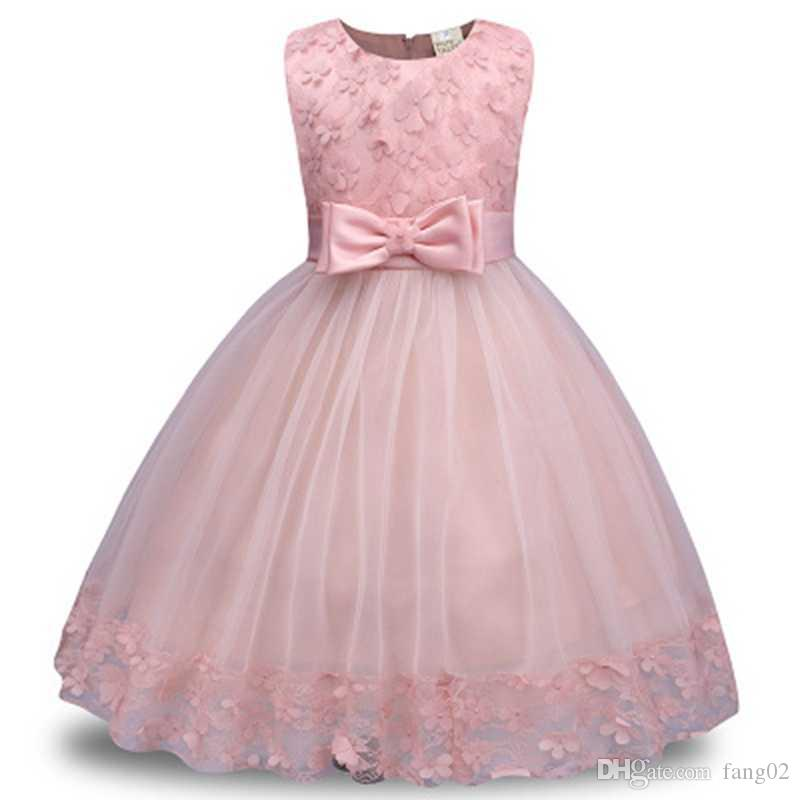 b892570447b New Flower Girl Dress For Wedding Baby Birthday Party Outfits Children s  Girls First Communion Dresses Kids Party Wear Clothes