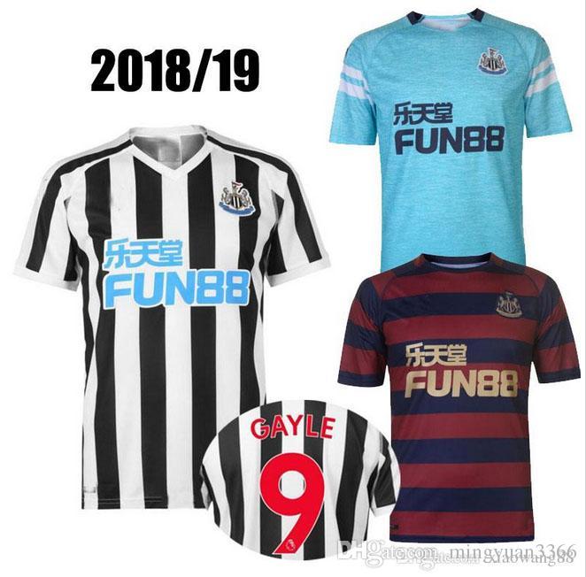 5cef7e3f18b50 Compre 18 19 Newcastle United Camisa De Futebol 2018 2019 Home MITROVIC  ATSU SHELVEY Camisa De Futebol Uniforme Camisas Terceiro Rondon De  Mingyuan3366