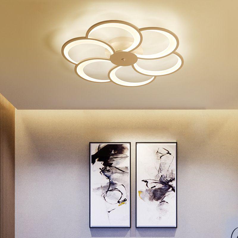 Großhandel Neue Moderne Kunst Acryl LED Deckenleuchten Wohnzimmer ...