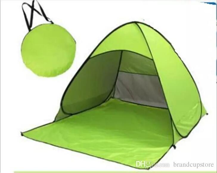 Automatique Ouvert Famille Camping Tentes À L'extérieur Pêche Plage Voyage Pelouse Construire Libre Couche Simple Tentes Portables