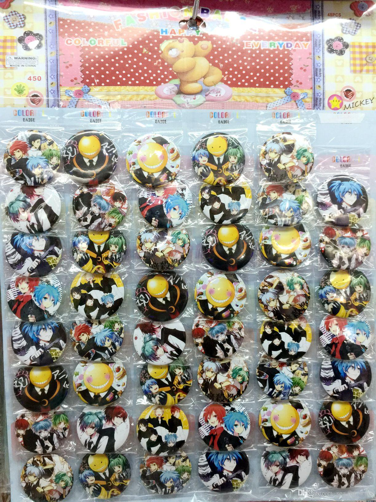 assassination classroom 4 5 cm set pin back badges buttons new for