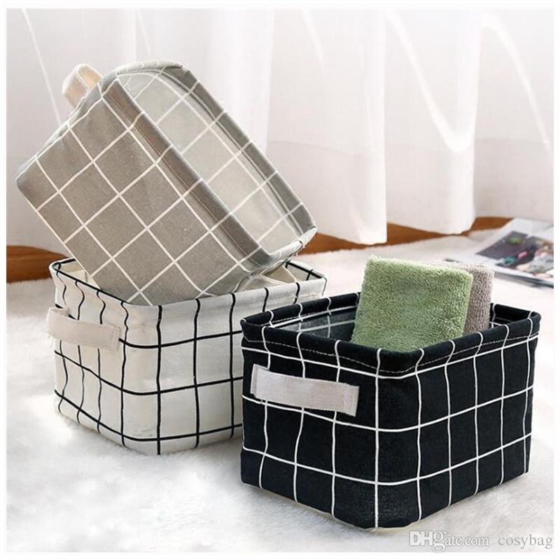 2987c729ad 9 Style Cotton Linen Sundries Organizer Waterproof Cosmetic Case Toy Storage  Barrel Storage Box Cloth Storage Basket 0318 Desktop Storage Basket  Sundries ...