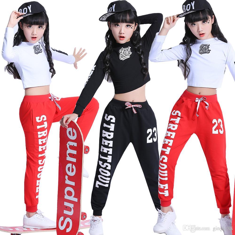 Acquista Ragazze Cool Cotton Ballroom Jazz Hip Hop Concorso Di Danza  Costume Crop Tops Camicia Pantaloni Bambini Abbigliamento Danzante  Abbigliamento ... f0e1d7ccfd9e