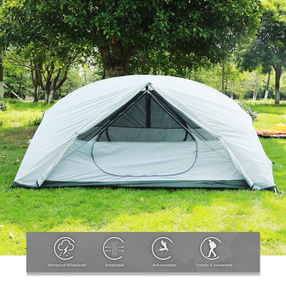 04cb4928f Compre 1 2 Pessoa Windbreak Camping Barraca Cama À Prova D  Água Pop Up  Aberto Anti Turva UV Tendas Para Caminhadas Ao Ar Livre Praia Viagem Tienda  2018 De ...