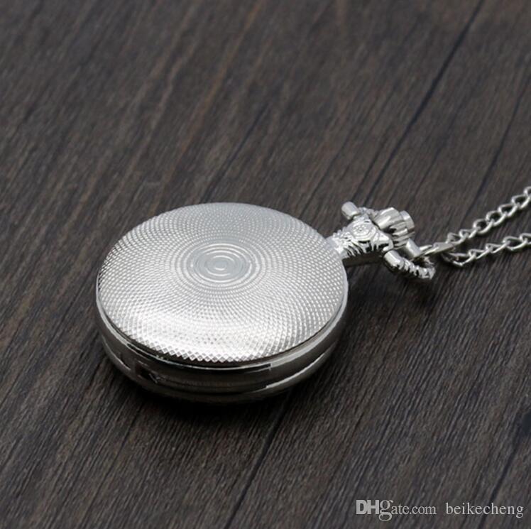 Wholesale Mix Quartz watches Necklace Chain Bronze DIY Jewelry pocket watches PW061