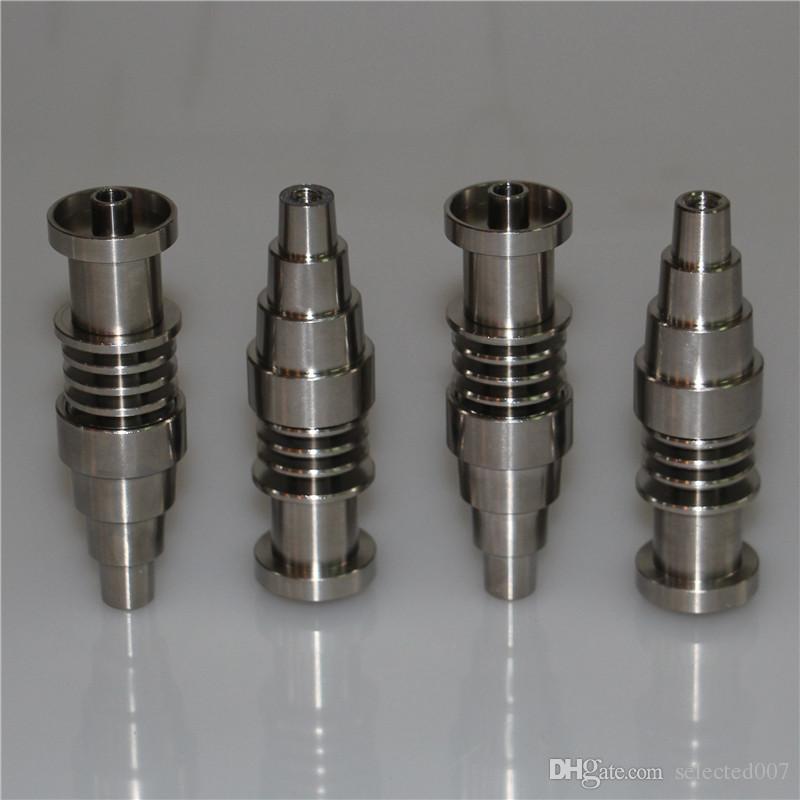 Регулируемая domeless Титан ногтей 10мм 14мм 18мм мужской женский Титана ногтей для ногтей катушки 16 мм, высокого качества нефтяные вышки ногтей