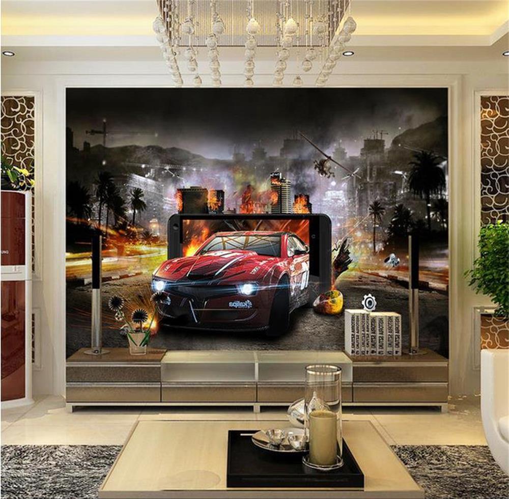 3d Wallpaper Custom Wallpaper Cars To Flee Murals Photo Wallpaper