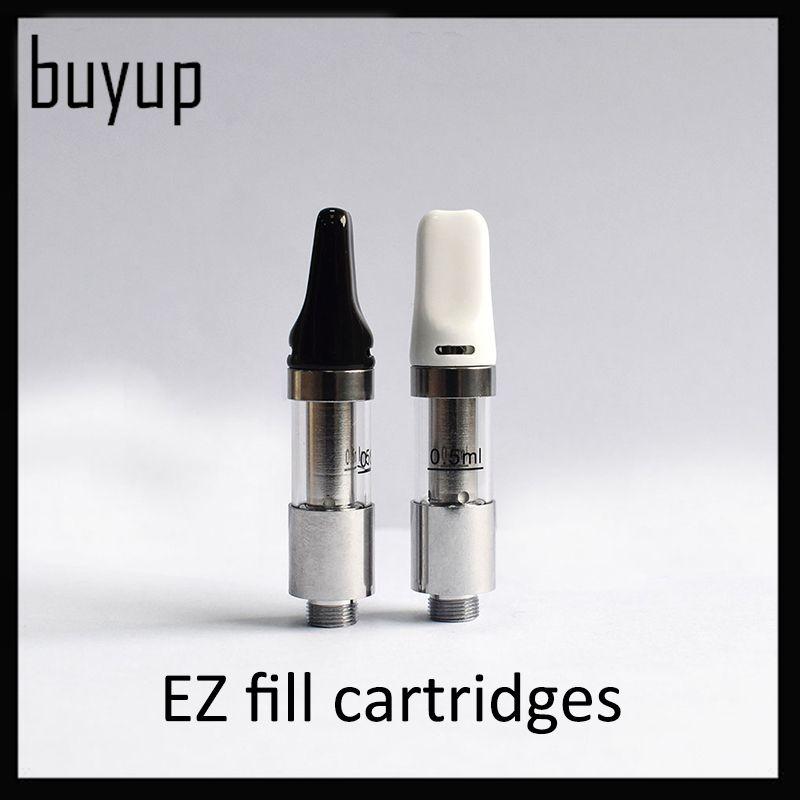 EZ Fill Cartridge 0 5ml Ceramic Coil Thick oil Cartridges Tank 510 Thread  Top Airflow Control Atomizer For Preheat Battery 0266212-1
