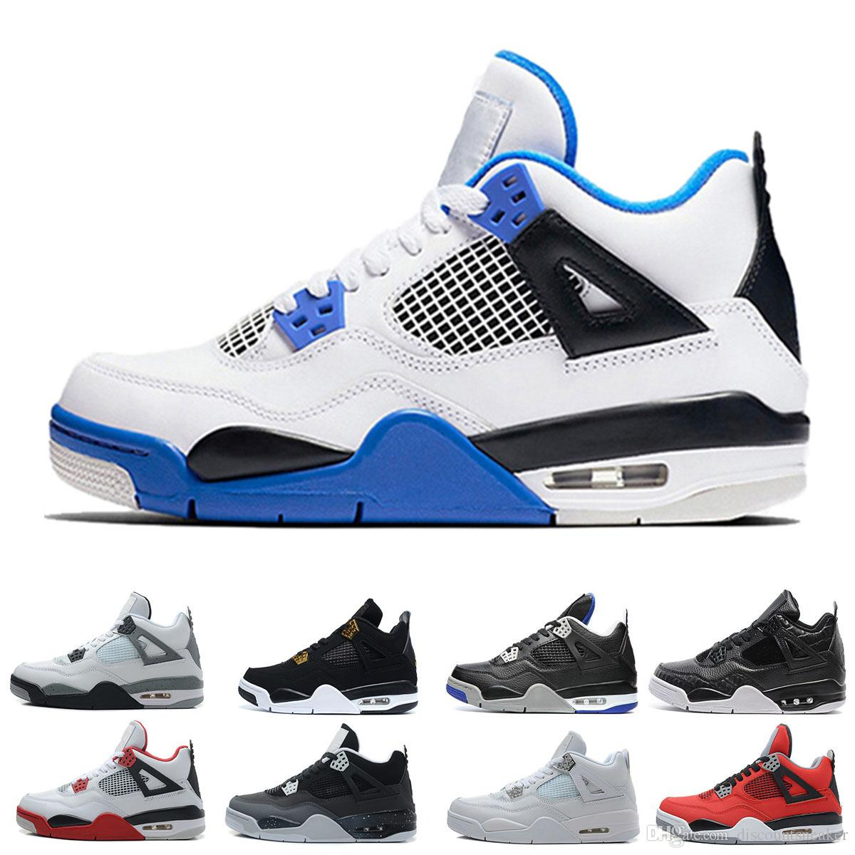 9105488b9a2a8a High Quality 4 Man Basketball Shoes 4s Pure Money Premium Black Cat White Cement  Royalty Fire Red Fear Angry Bull Sports Shoes Sneaker Latest Shoes Shoes ...