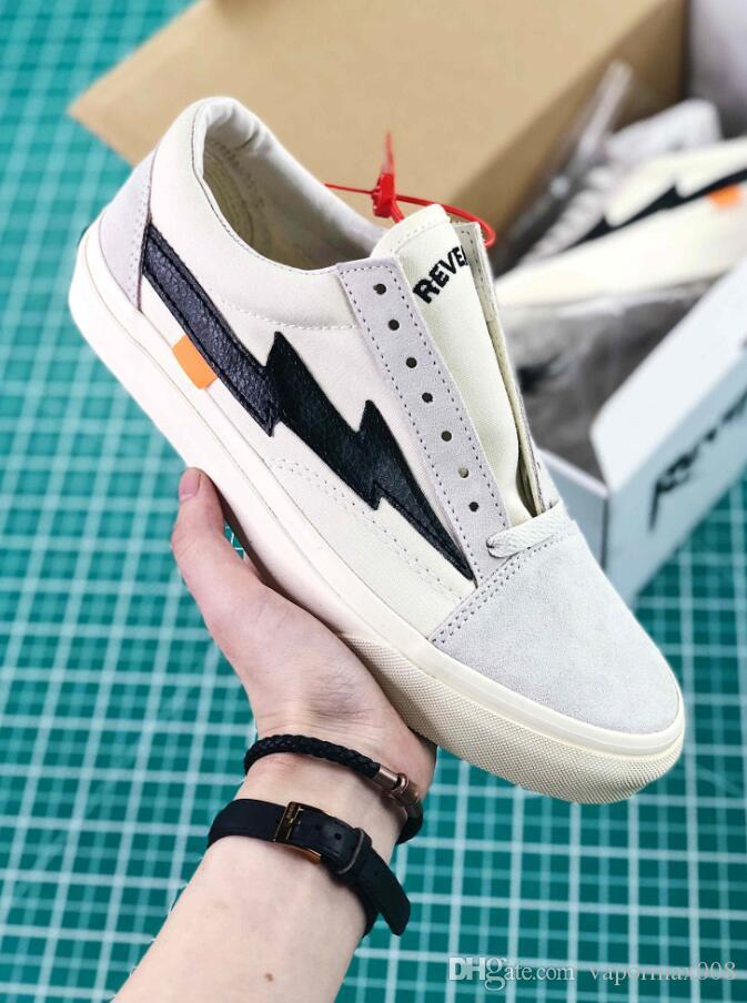 d8bf71bb0fc New Style Revenge X Storm Old Skool Skateboarding Shoes Women And Mens  Flame Fire Black Yellow White Causal Sneakers 36 44 Wedges Shoes Black Shoes  From ...