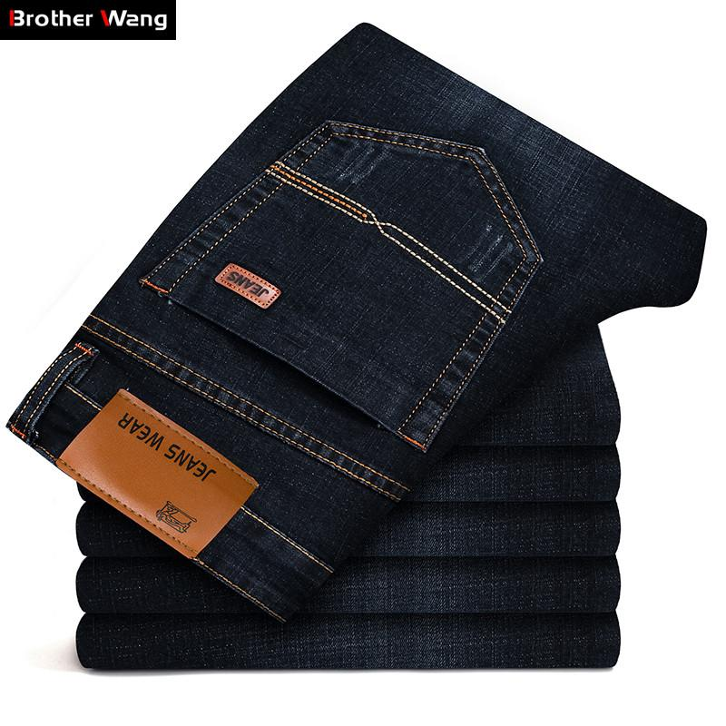 b5693b7f46a5 2019 Brother Wang Brand 2018 New Men  S Fashion Jeans Business Casual  Stretch Slim Jeans Classic Trousers Denim Pants Male 101 From Netecool