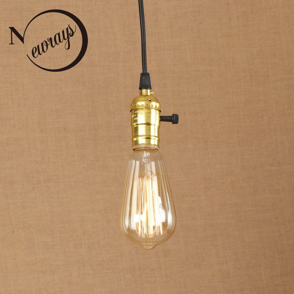 Vintage Iron Painted Gold Art Deco Pendant Lamp E27 220v Led Indoor ...