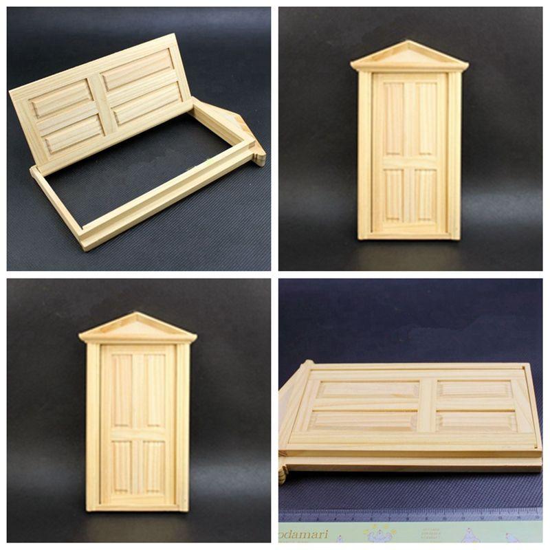 1/12 Dollhouse Miniature Unpainted Wooden Door Window Furniture DIY Doll  House Accessories Kids Toy YYY9626 Barbie Dolls House Barbie Doll Houses  From ...