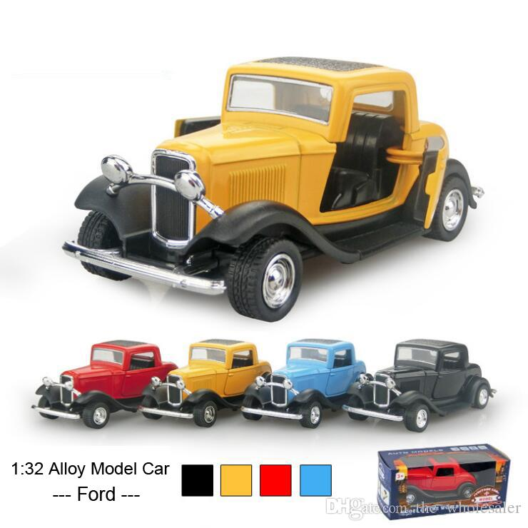 1:32 Alloy Car Pull Back Diecast Model Cars 3 Designs Ford Ferrari ...