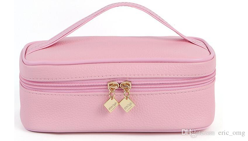 2018 multicolor beautiful women's hand-held makeup jewelry bag cosmetic storage bag