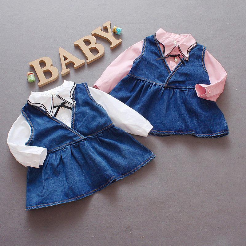 451c792cc 2019 Autumn Baby Girls Print Clothes Set Long Sleeve Princess Kids Autumn  Cotton Top +Party Dress From Sophine13, $25.68   DHgate.Com