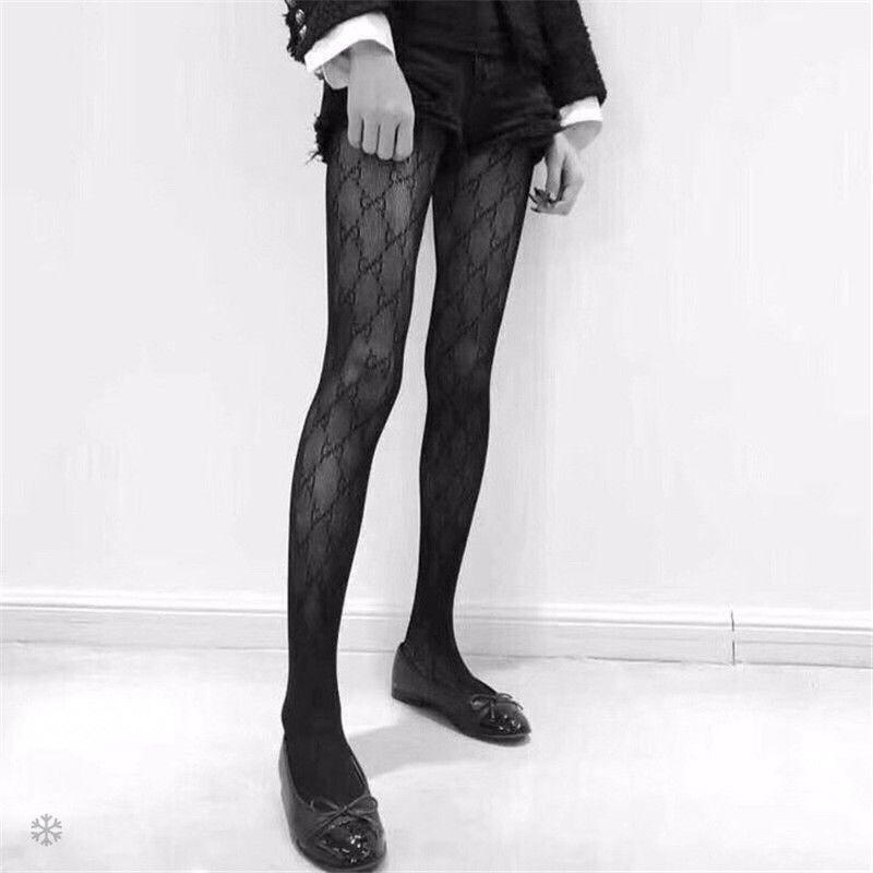 57cb1fe9ad7 2019 Ladies Designer Silk Stockings Brand Socks Sexy Womens Hosiery Fashion  Causal Stockings Sexy Transparent Grid Stockings Female Hosiery From  Sixlady