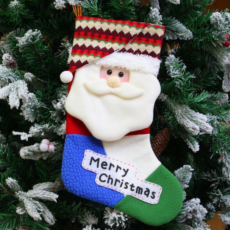 Christmas Cloth Art Adornment Christmas Decorations Santa Socks