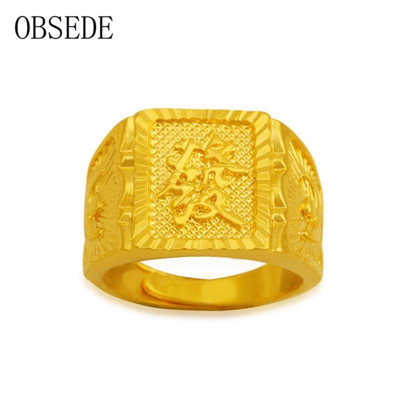 Großhandel Ganzer Verkaufobsede Punk Gold Farbe Kupferlegierung Ring ...