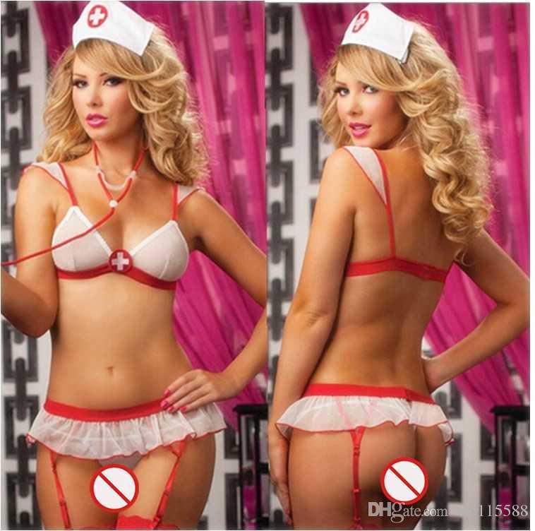 ec359a9a8433 Compre Envío Gratis Nueva Lencería Sexy Cosplay Halloween Blanco Bikini  Redes Sin Respaldo Perspectiva De Malla De Tres Puntos Uniforme De La  Enfermera ...