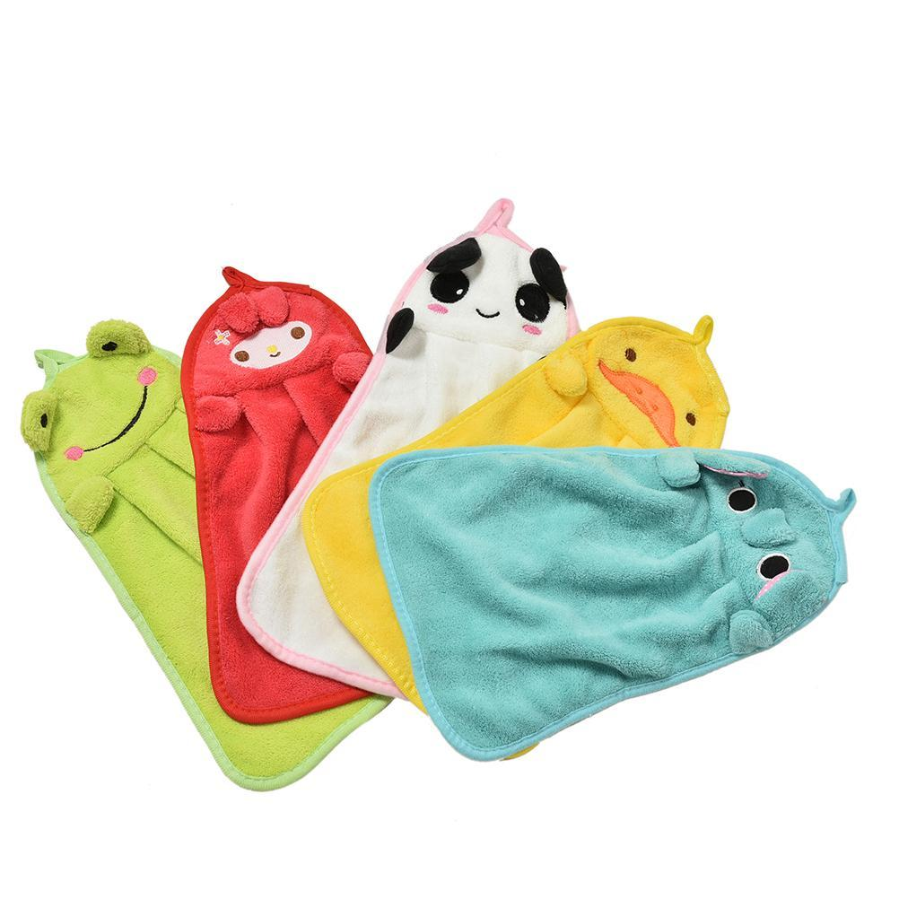 Children Nursery Hand Towel Cartoon Animal Kitchen Bath Hanging Wipe ...