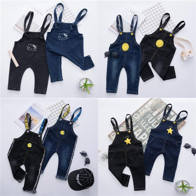 a135cf3b00bd Baby Rompers Cotton Letters Jumpsuits Boys Girls Overalls Jeans Cartoon  Suspenders Trousers For Kids Spring Autumn Clothing New Free DHL B20 Online  with ...