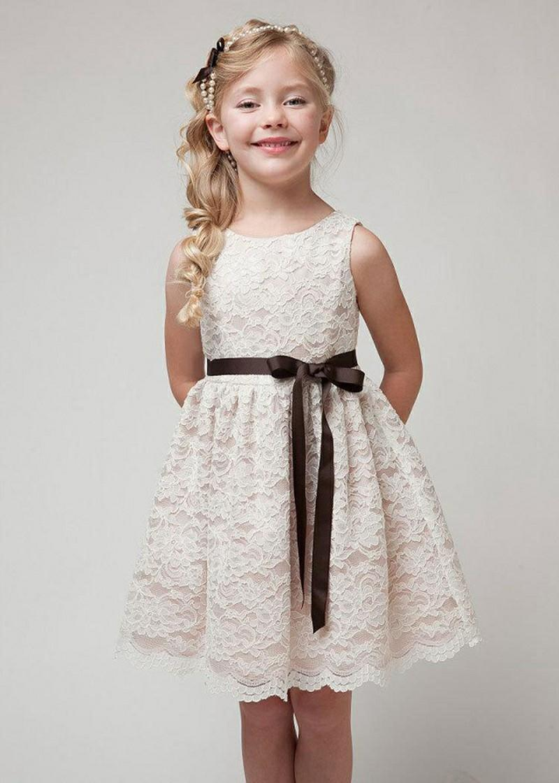 b88db845bfd00 2019 Pretty Baby Girls Dress Summer Children Clothing Floral Sleeveless  Dress Pleated Flower Lace Skirt Kids Clothes From Mk665e323, $6.79 |  DHgate.Com