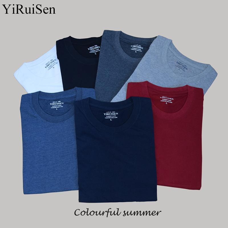 912fb0d669f9 Top Quality Men s Short Sleeve 100% Cotton T-shirt Men 2017 Summer Brand  Shirts Solid Color Casual Male Tops   Tees Solid Brand Cotton T-shirt  Summer Casual ...