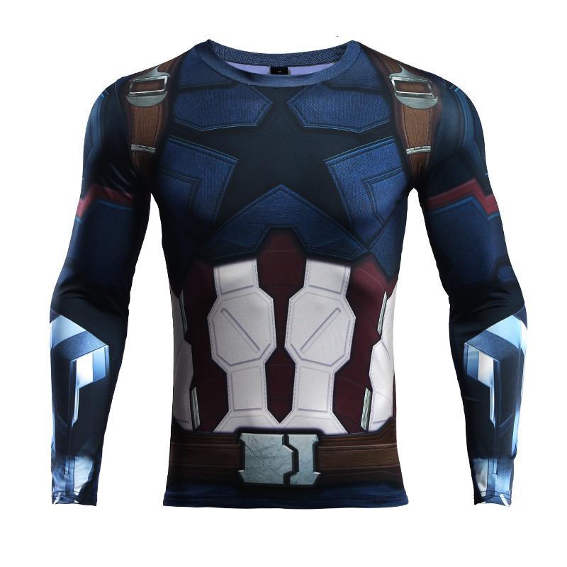 485a55784 3D Men s Sport Running Shirt Long Sleeve Soccer Training T Shirt Gym ...