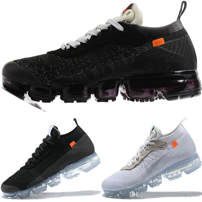 b6045114a0889 Off Designer VM Men Women Running Shoes Triple White Black Fashion ...