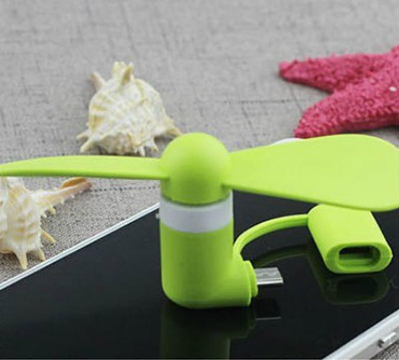 Venta caliente portátil Mini Cool Micro USB Fan 3 en 1 2 en 1 USB portátil Fan para Android PC Universal de teléfono móvil