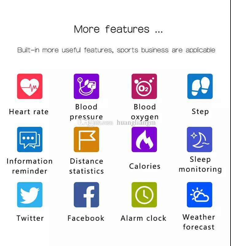 V6 Smart Wacth Bluetooth 4.0 LED Moniteur de Fréquence Cardiaque Fitness Tracker Bracelet Smart Sport Montre-Bracelet Bracelet Sport Montres pour ios Android