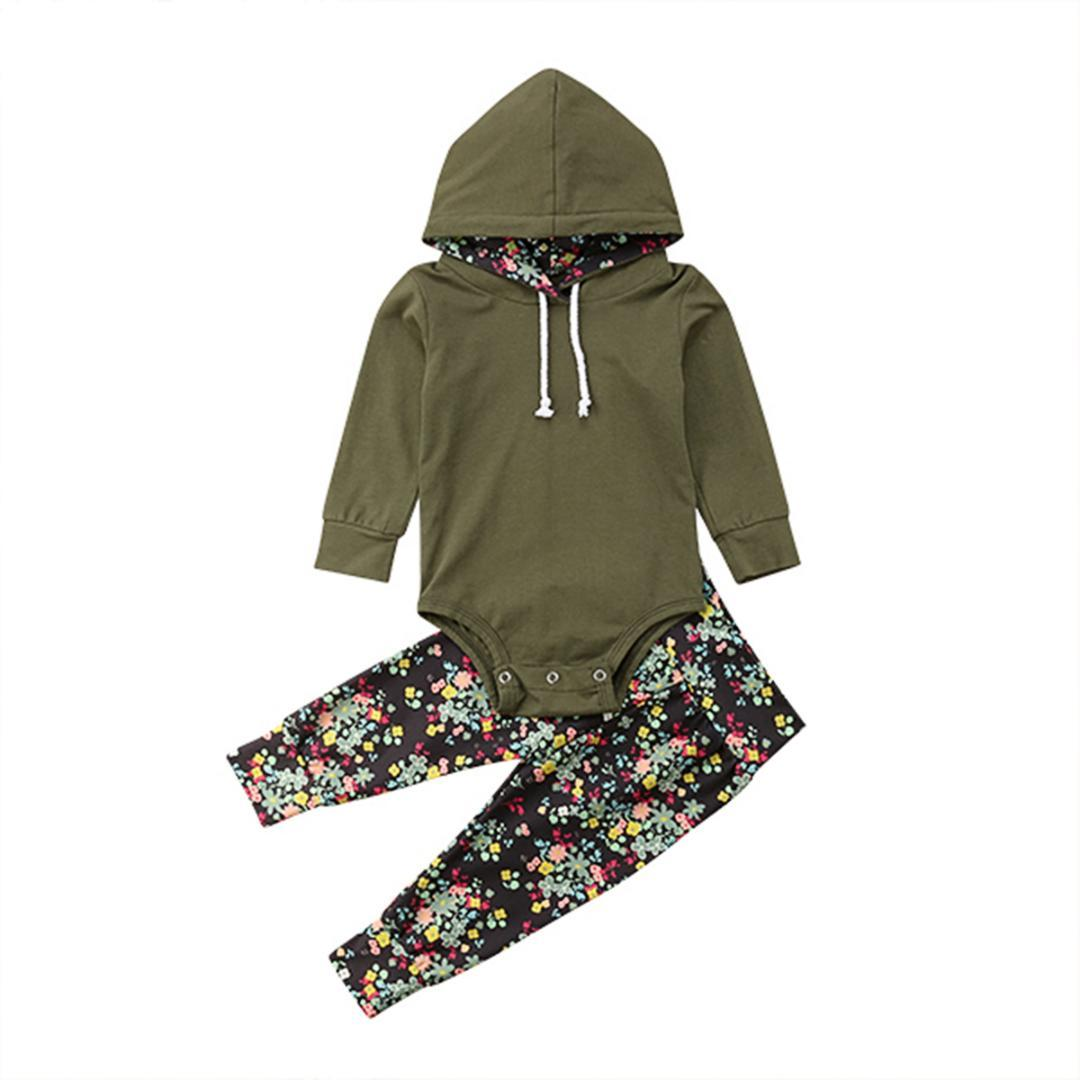 9659d9891 2019 Newborn Infant Kid Baby Girl Baby Boy Clothes Hooded Tops ...