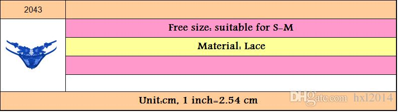 2018 ropa interior de las mujeres G-Strings ropa interior atractiva de la muchacha joven más las bragas del cordón del tamaño para las mujeres mayoristas Envío libre / porción # 2403